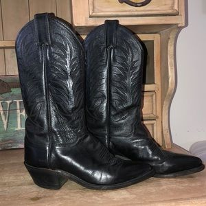 Justin Boots Western Leather Cowboy Pointed Toe